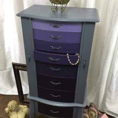 Ombre Painted Jewelry Armoire