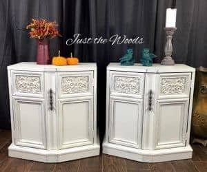 shabby chic, new york, white distressed, vintage tables, just the woods
