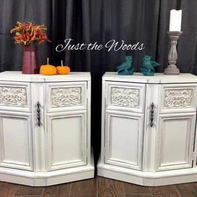 How to Paint White Distressed Shabby Chic Vintage End Tables