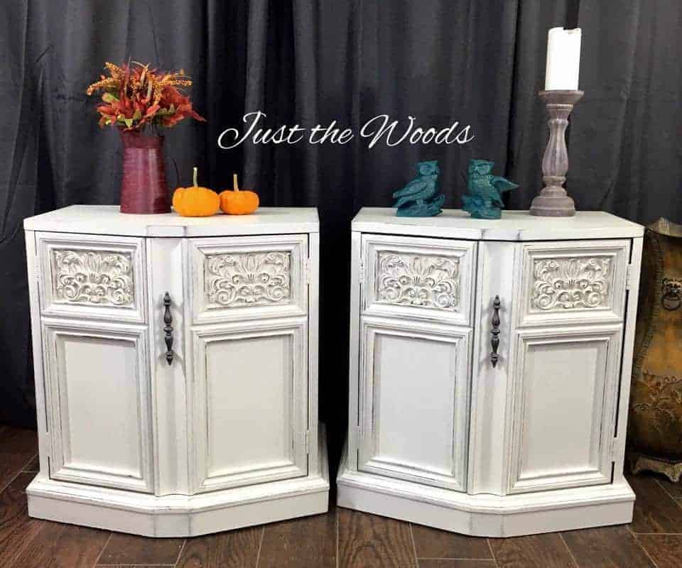 painted tables, white chalk paint, distressed, pure home paint, staten island
