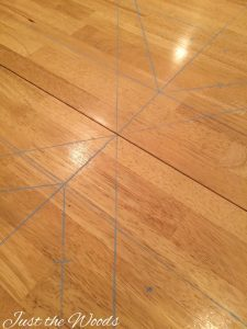 marking table for stencil, how to stencil a table, stencil ideas for kitchen table