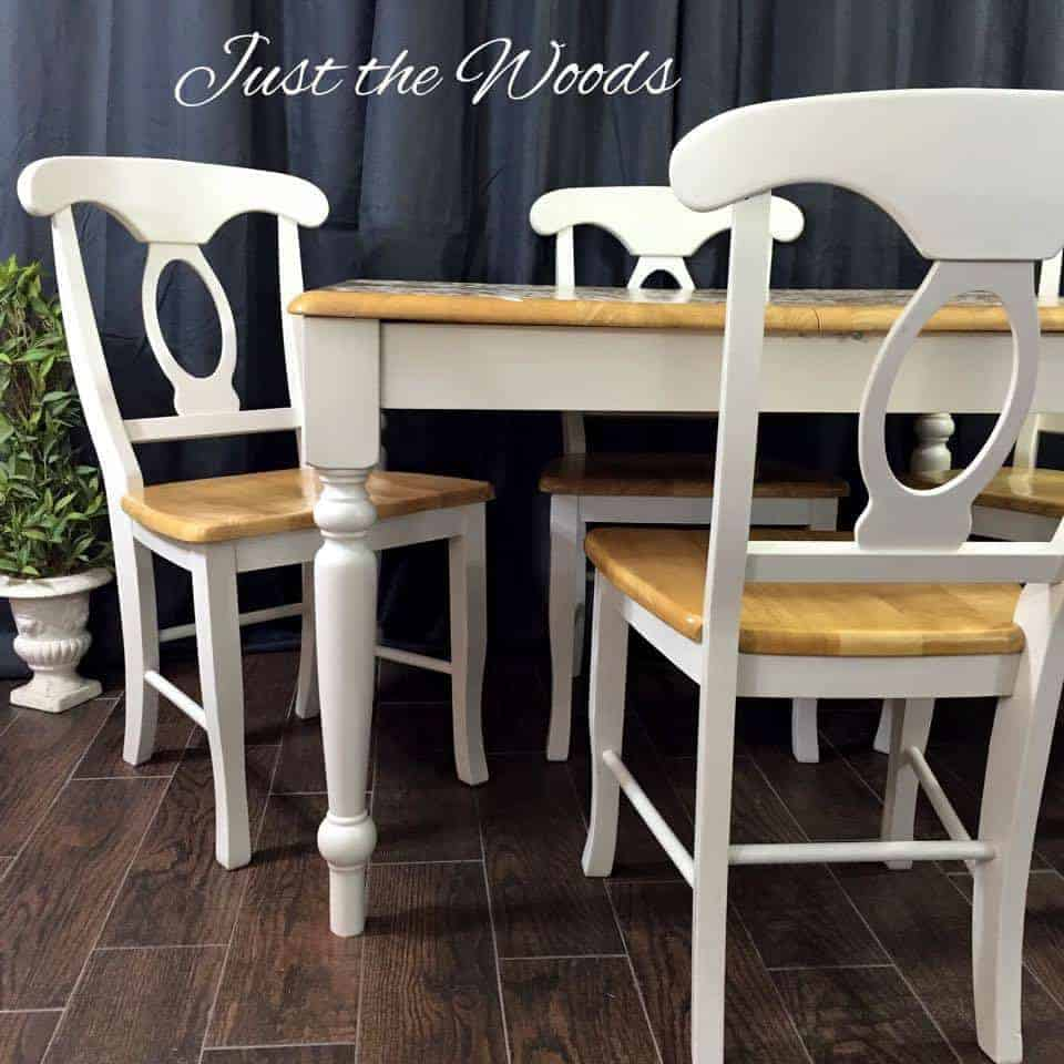 Just The Woods Llc Damask Dining Set
