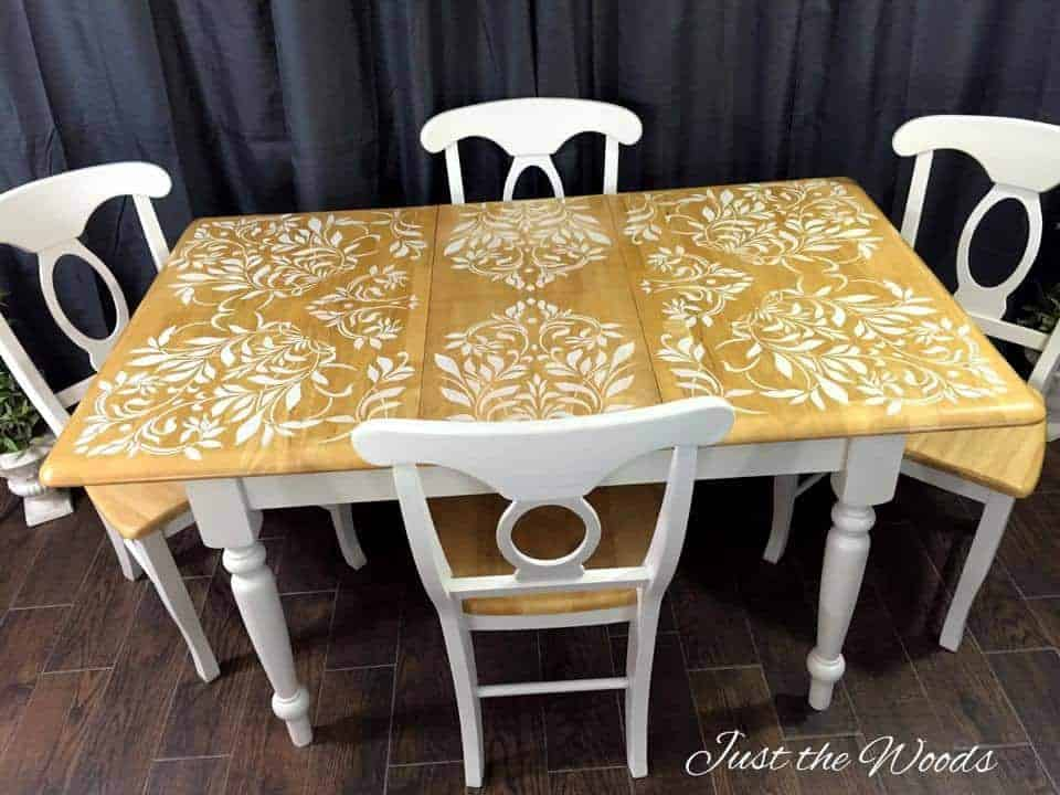 Stenciled Kitchen Table