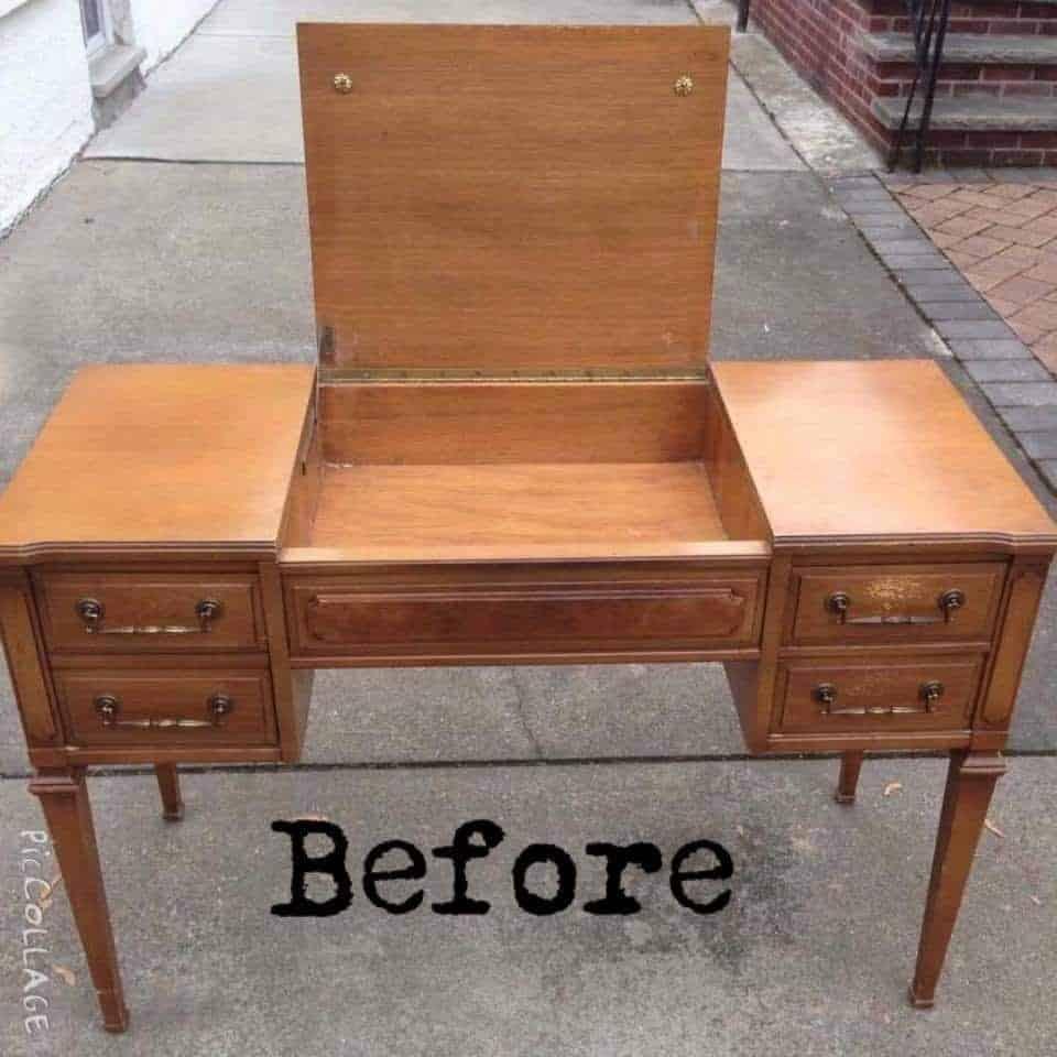 vintage vanity, unfinished vanity