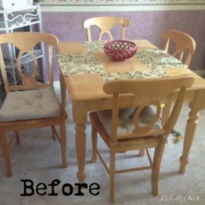 Pine wood Dining Set
