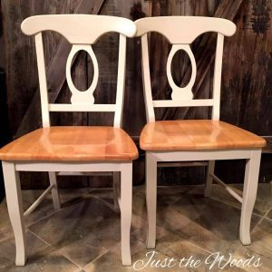 Pine Wood Chairs, stenciled dining set, damask stencil, neutral painted chairs, off white chalk paint