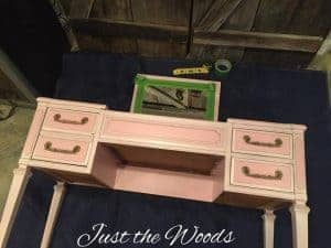 vintage vanity, elegant vanity, staten island, painted furniture, chalk paint