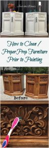 How to Clean / Prep Furniture Prior to Painting by Just the Woods