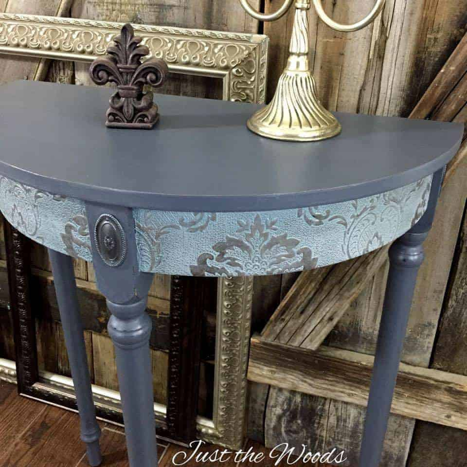 sophisticated side table, decoupage