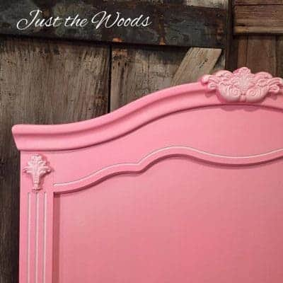 Pretty in Pink Painted Headboard