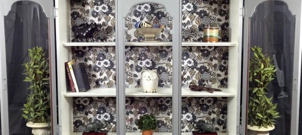 add feet to furniture, curio cabinet, vintage furniture, decoupage
