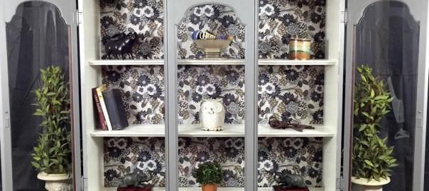 add feet to furniture, curio cabinet, vintage furniture, decoupage
