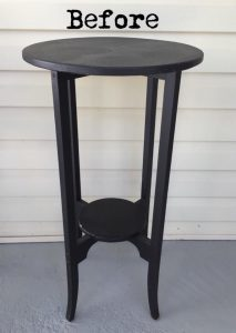 wooden table, accent table