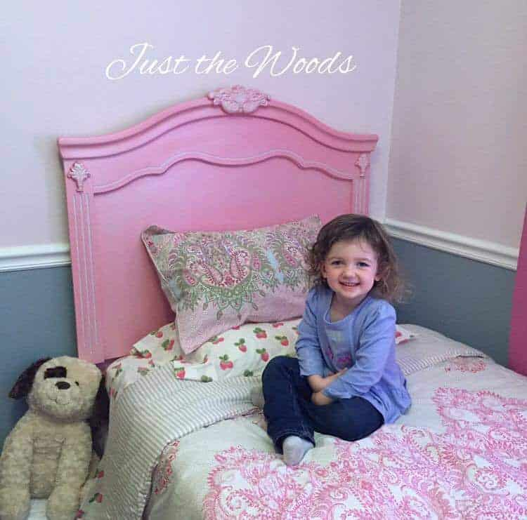 Pink Painted Headboard Using Paint Sprayer