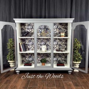 repurposed-curio-cabinet, chic curio cabinet