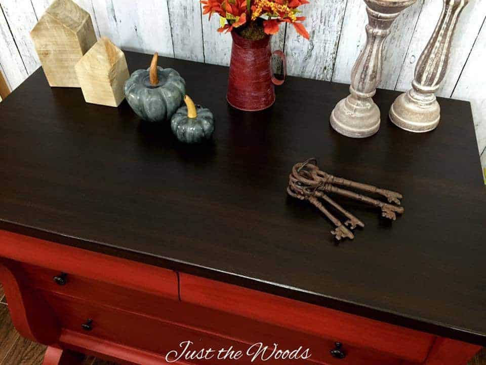 Empire Buffet with Stain Top, chalk paint, wood stain, painted buffet