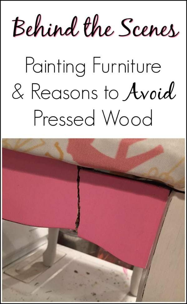 Behind the Scenes and Why I Hate Pressed Wood