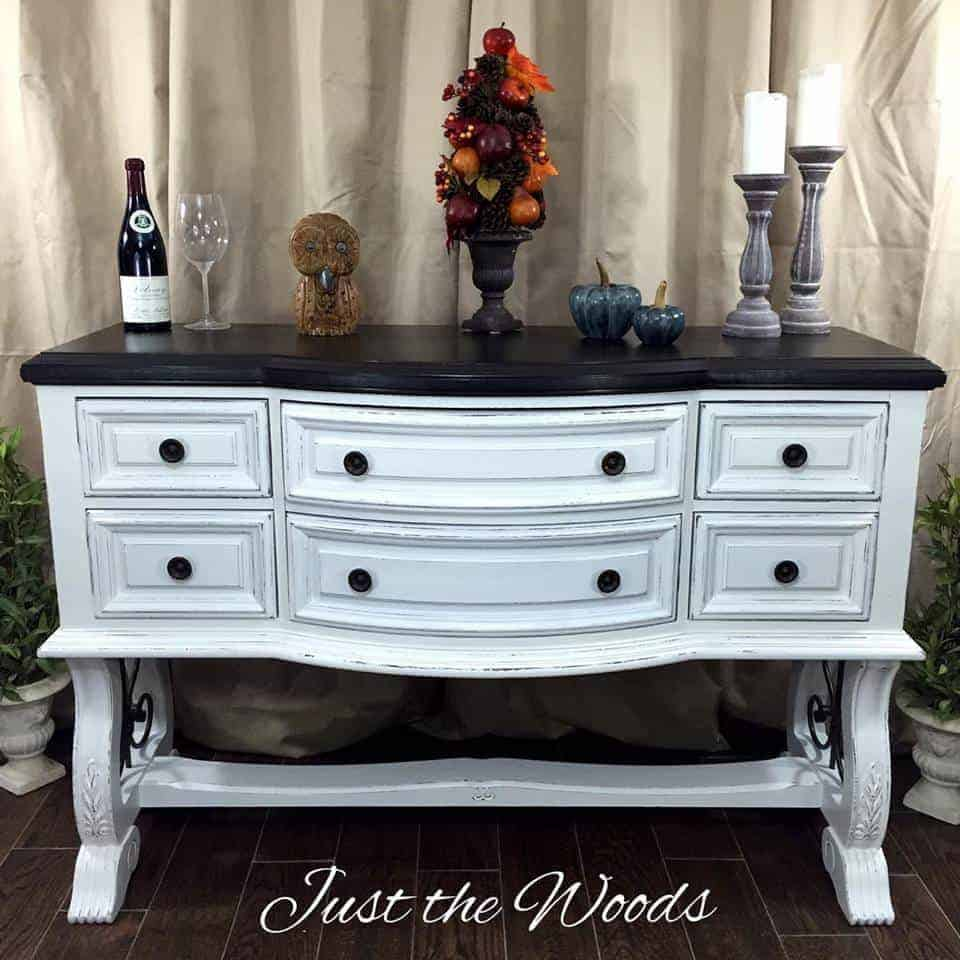 white chalk paint, painted furniture