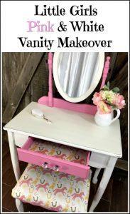 girls-pink-vanity, painted vanity, new york, staten island