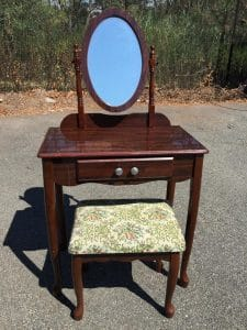 small-vanity, unfinished vanity, girls vanity, staten island, new york