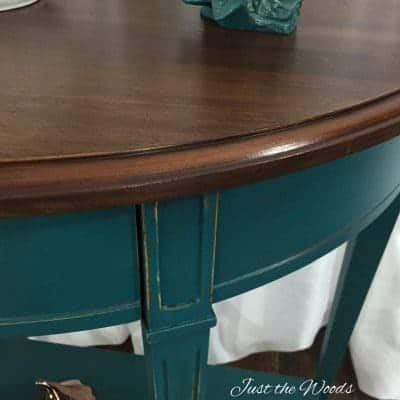 Deep Deep Teal Console Table