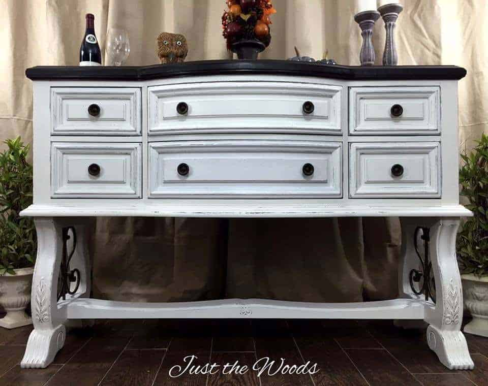 Painted Timeless White Buffet by Just the Woods