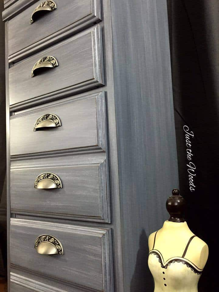 painted lingerie chest, gray chalk paint, pure home paint, lingerie chests