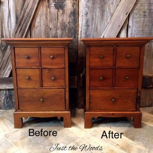 Restored vintage tables, restore old wood tables, revive old wood, restore furniture, apothecary tables, restore a finish