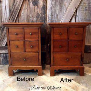 Restored vintage tables