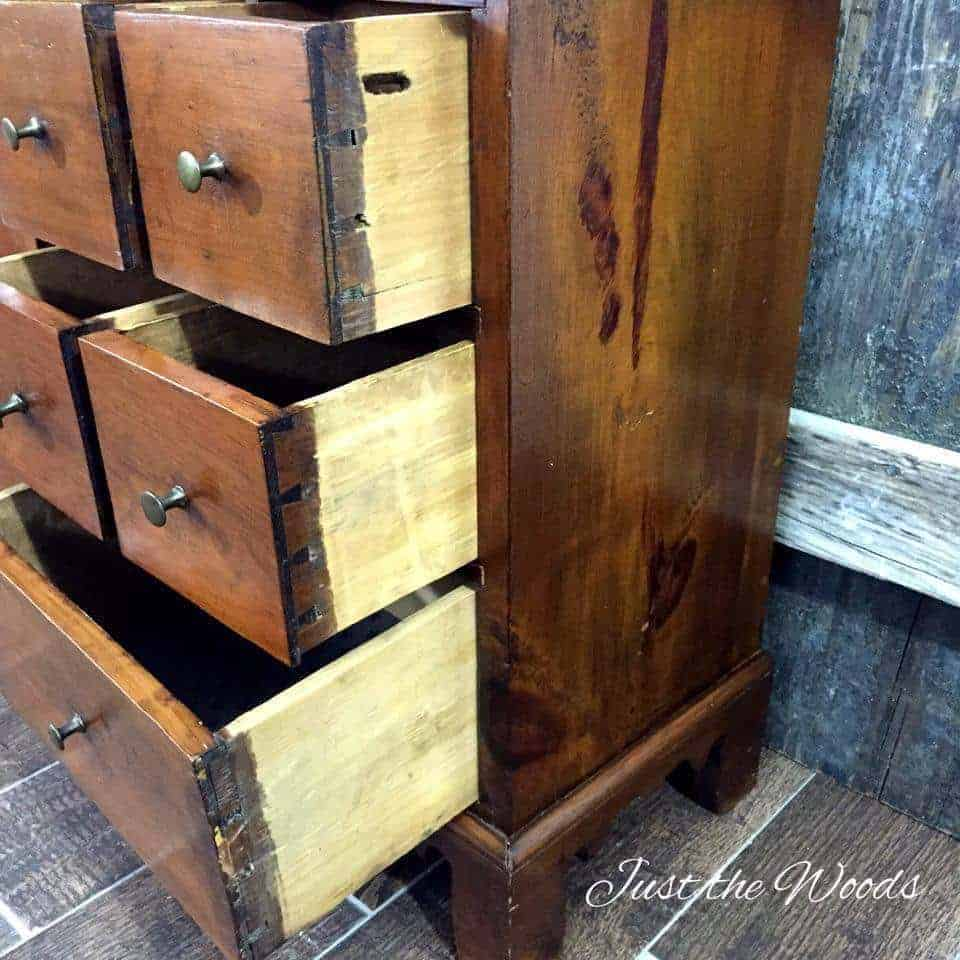 Antique dovetail joints, handmade tables, apothecary tables
