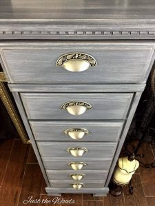 lingerie chest, staten island, nyc, painted chest, vintage chest, just the woods, chalk paint