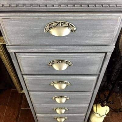 Vintage Lingerie Chest Turned Gray