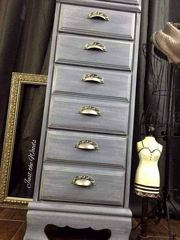 Shades of gray, painted chest, painted furniture, lingerie chest, vintage chest, staten island, nyc