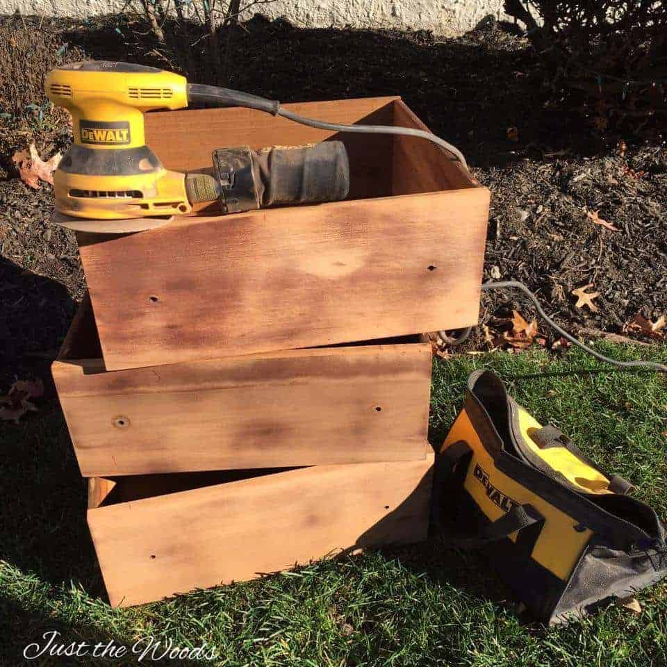 sanding furniture, prep painted furniture