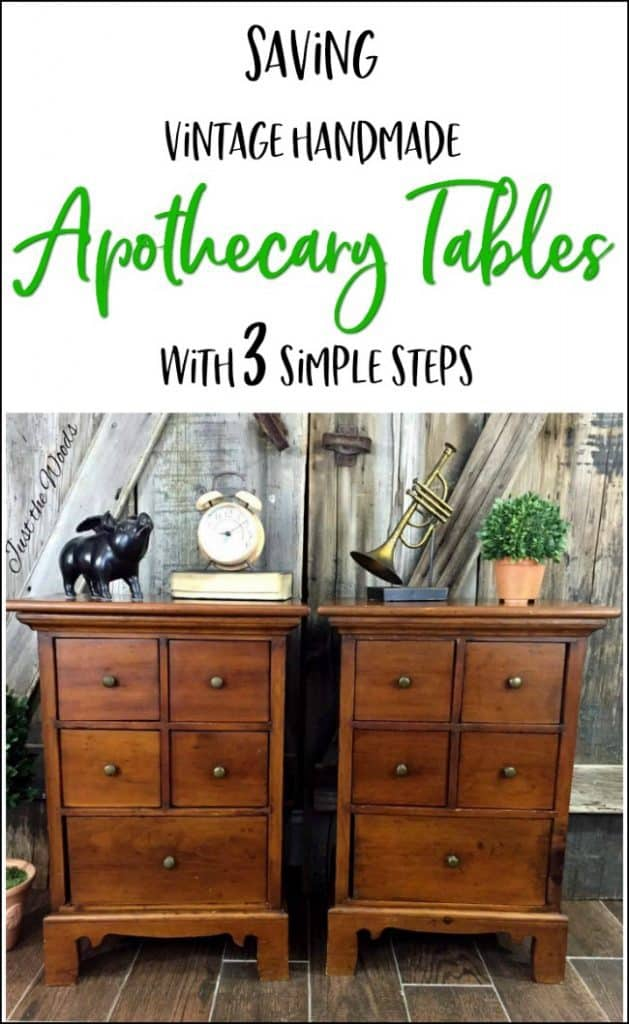 restore old wood, refresh old wood furniture, Revive & Refresh Vintage Apothecary Tables