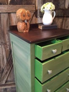 lingerie chest, green painted furniture, staten island