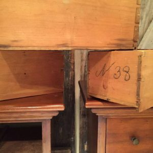 antique handmade tables, nailed dovetail joints, vintage wood tables