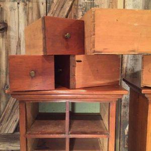 vintage handmade tables