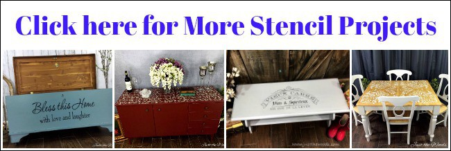 stencil projects, painted furniture