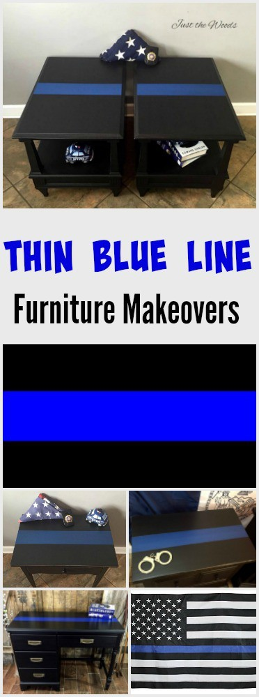 Thin Blue Line Painted Furniture by Just the Woods