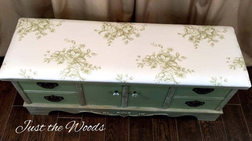 painted, furniture, lane, cedar, chest, just the woods, staten island, nyc, nj, vintage