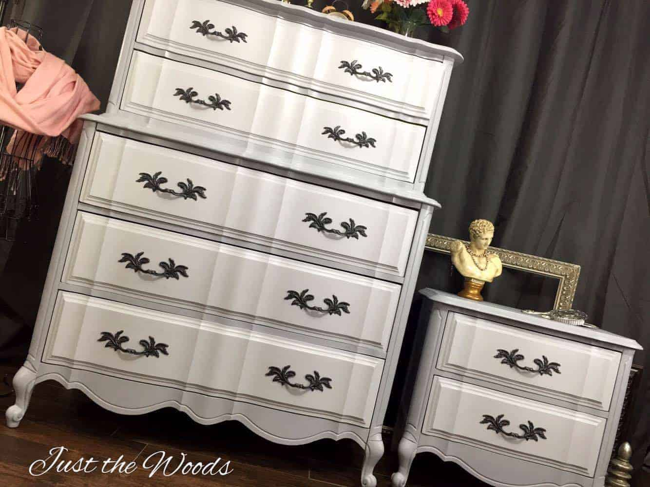 French Provincial Painted Dresser, painted french provincial furniture