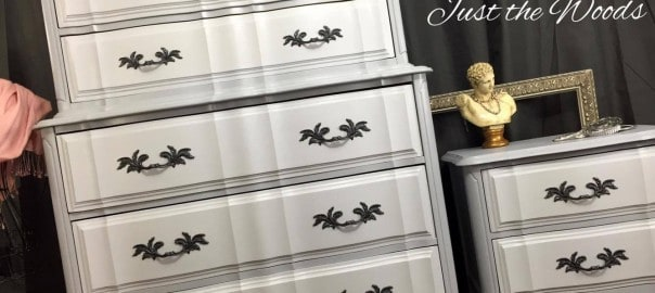 Two Toned French Provincial Dresser Set by Just the Woods