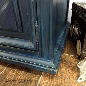 navy blue chalk paint, layering paint, painted furniture, painted buffet, painted vintage buffet