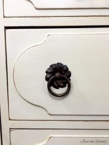 vintage hardware on painted furniture
