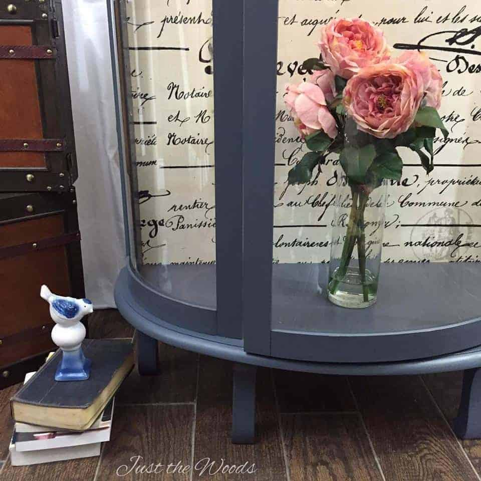 bow front cabinet, vintage curio, grandmas furniture, painted furniture, new york, staten island