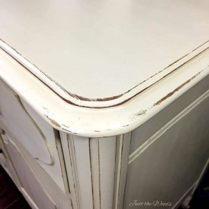 Distressed vintage furniture, shabby chic, new york, painted china cabinet