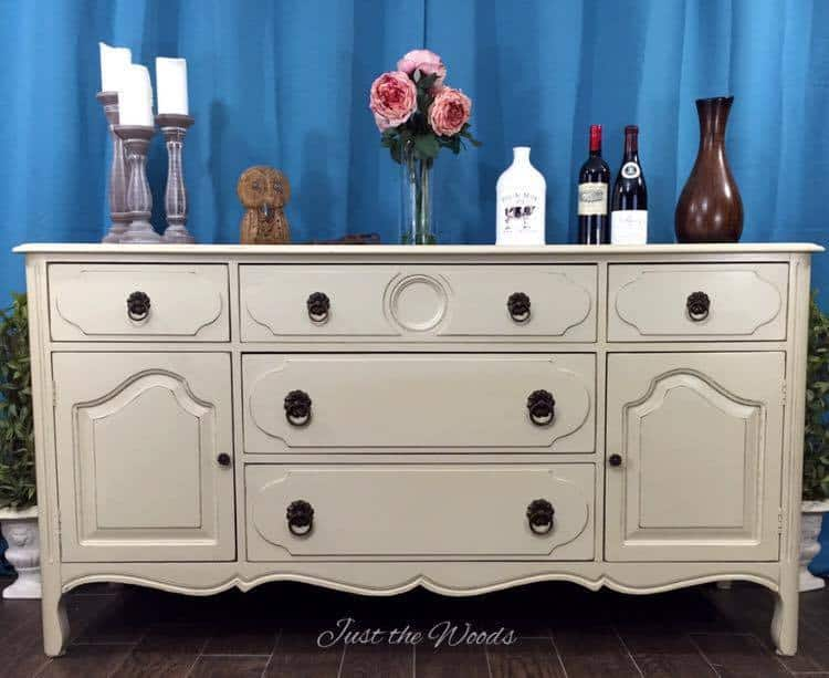 Painted buffet server, painted china cabinet