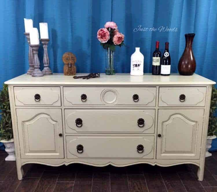 Painted china cabinet buffet server, staten island, vintage china cabinet, just the woods