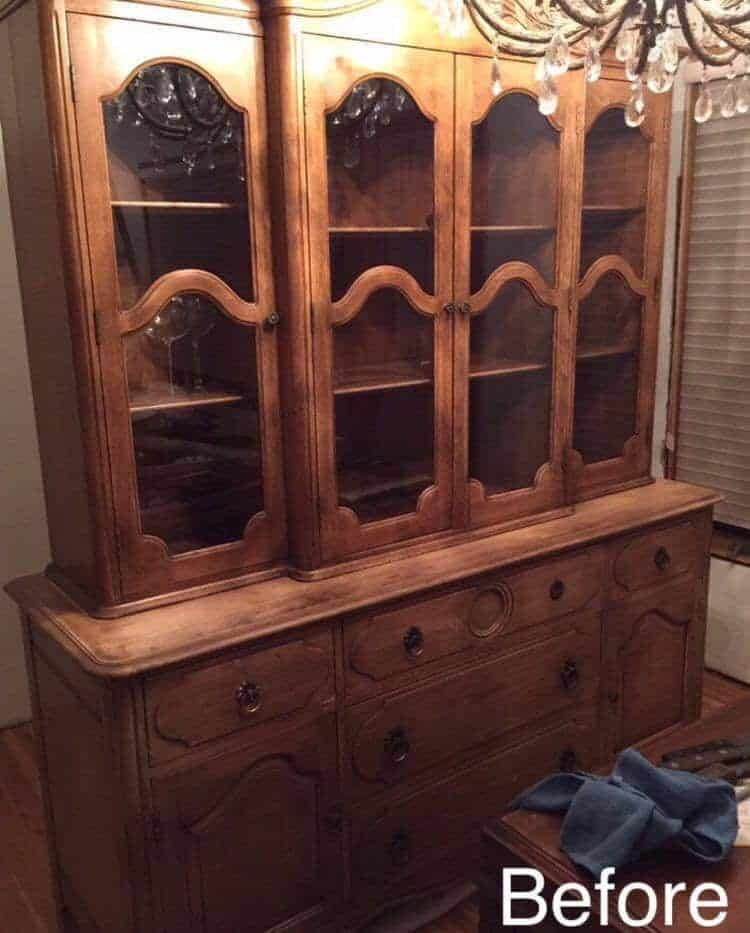 Bon Unfinished China Cabinet, Large China Cabinet Painted China Cabinet